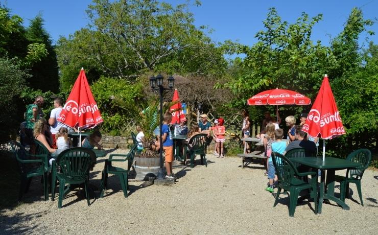 Campsite Le Rêve - Restaurant terrace