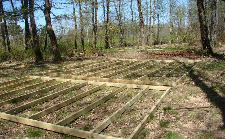 Camping Le Rêve – Preparation and foundations