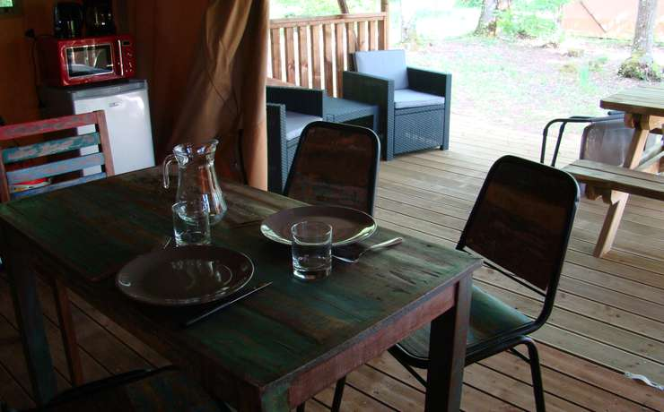 Glamping lodgetent  - Lodge tent inside