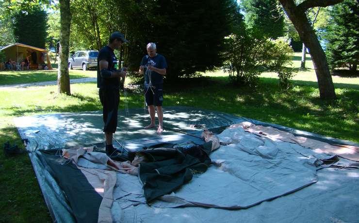 Camping Le Rêve - Préparation des éléments