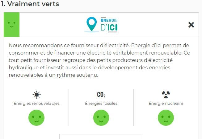 Camping Le Rêve - Energie d'Ici TOP ranked by Greenpeace