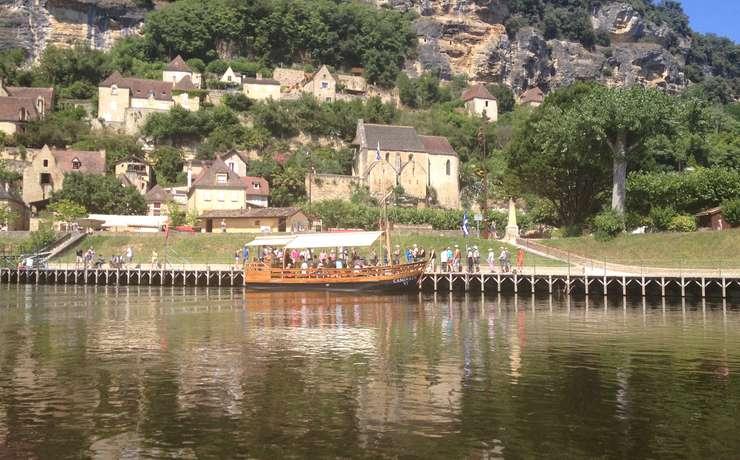 Camping Le Rêve - Gabare sur Rivière Dordogne