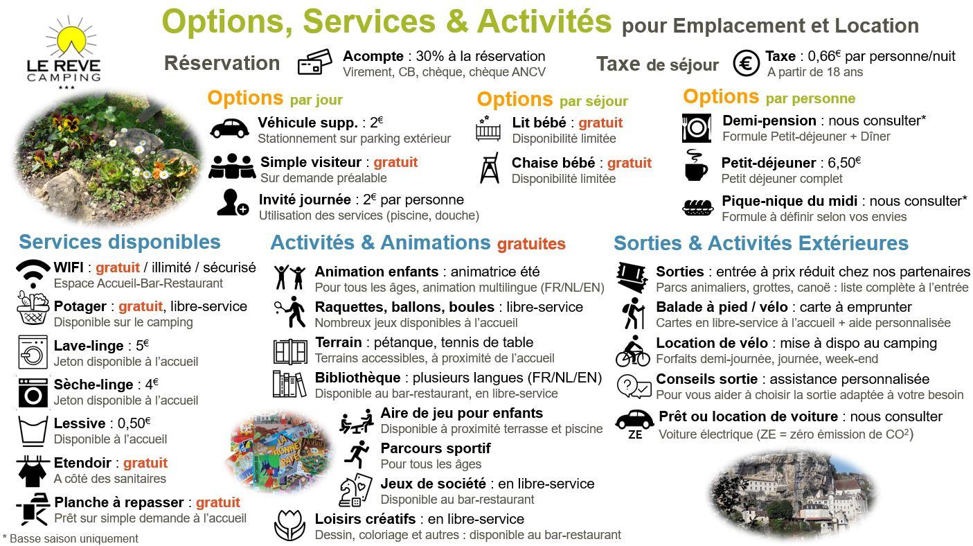 Tarifs - Services
